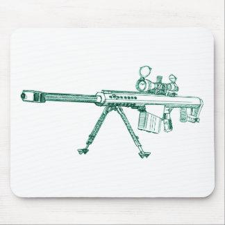 B M107 50 cal sketch Mouse Mat