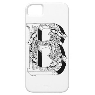 B - Mandala N°1 inside Alphabet N°1 iPhone 5 Cases