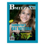 B Mitzvah Magazine Poster in Turquoise