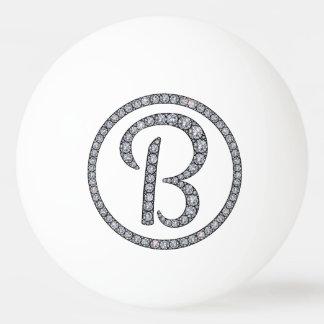 B monogram bling ping pong ball
