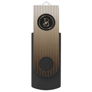 B Monogram Swivel USB 2.0 Flash Drive