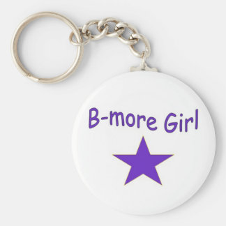 B-more Girl star keychain