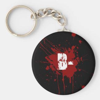 B Negative Blood Type Donation Vampire Zombie Key Ring