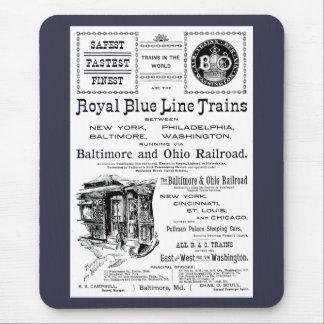 B+O Royal Blue Line Trains 1910 Mouse Mat