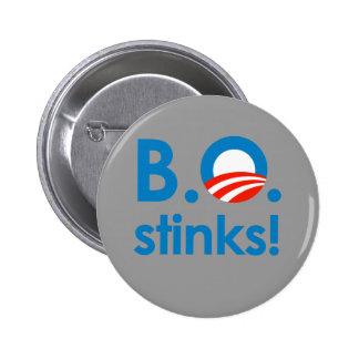 B.O. Stinks / Anti-Obama 6 Cm Round Badge