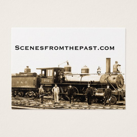 B&O Vintage Railroad Business Card