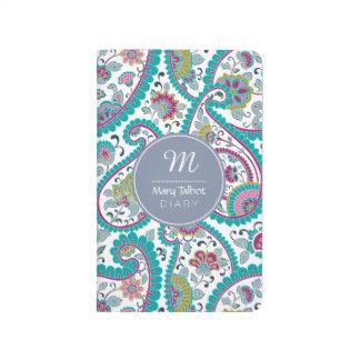 B Persian  Boteh Paisley Pattern Monogram Pocket J Journals