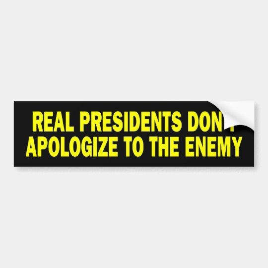 b_realpresidents bumper sticker
