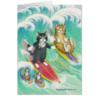 B & T #38 Surfing Note Note Card