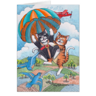 B & T #57 Parachute Birthday Note Note Card