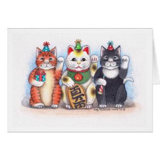 B & T  #62 Welcome Nekko Kitty Notecard Note Card