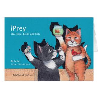 B & T #89 iPrey Birthday Cat Notecard Note Card