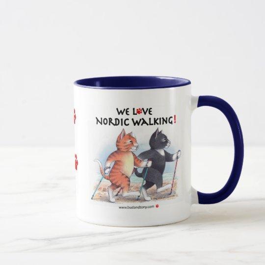 B & T We Love Nordic Walking Mug