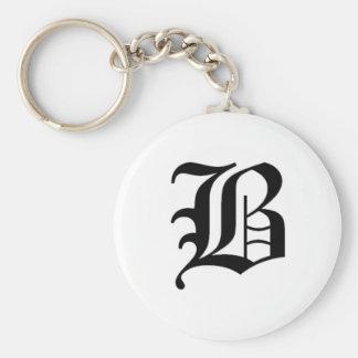 B-text Old English Key Ring