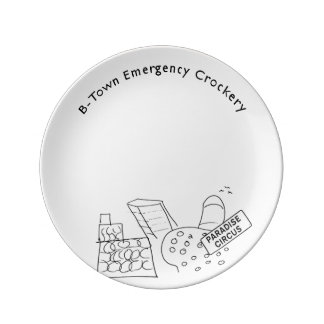 B-Town Emergency Porcelain Plate