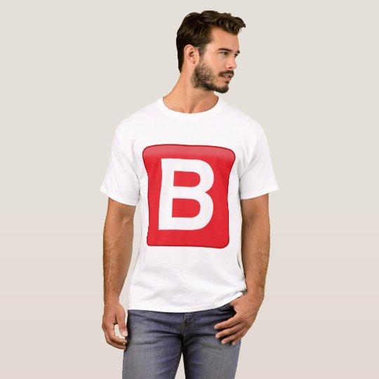 B ️utton Emoji Premium Design T-Shirt