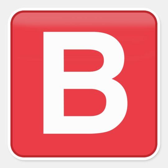 B 🅱️utton Emoji Square Sticker