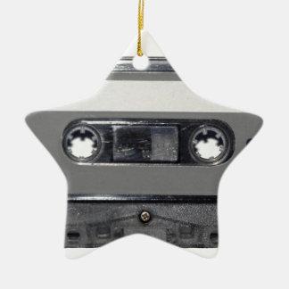 B&W 1980s Vintage Cassette Christmas Ornaments