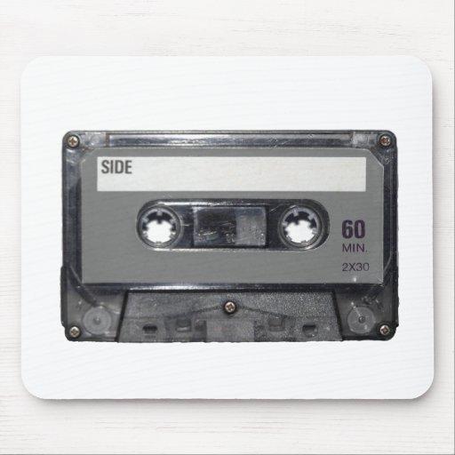 B&W 1980s Vintage Cassette Mouse Pads