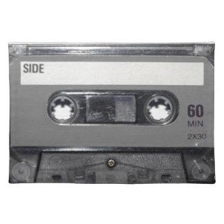 B&W 1980s Vintage Cassette Placemat