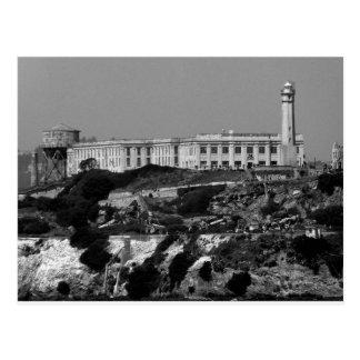 B&W Alcatraz Island Postcard