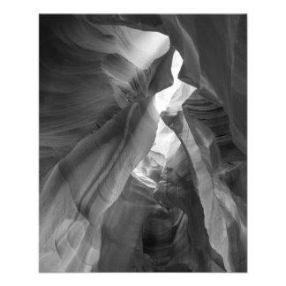 B&W Antelope Canyon 2 11.5 Cm X 14 Cm Flyer