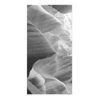 B&W Antelope Canyon 2 Customised Photo Card