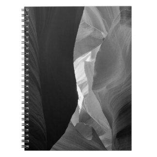 B&W Antelope Canyon 4 Notebook