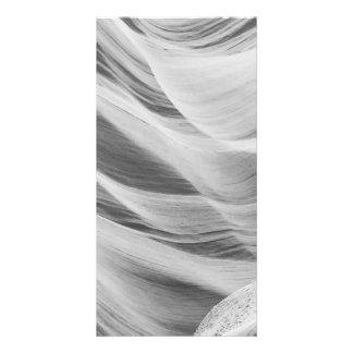 B&W Antelope Canyon 5 Customised Photo Card