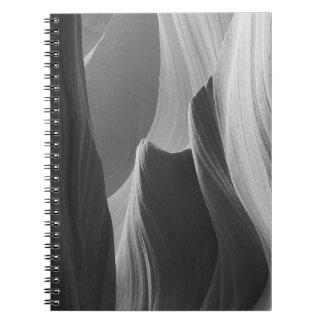 B&W Antelope Canyon 6 Notebook