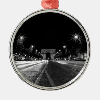B&W Arc de Triomphe 2 Christmas Ornament