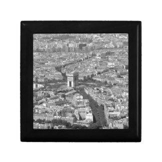 B&W Arc de Triomphe 5 Small Square Gift Box