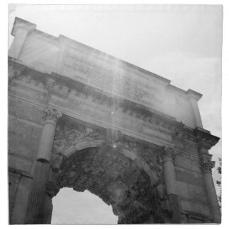 B&W Arc de Triomphe 6 Napkin