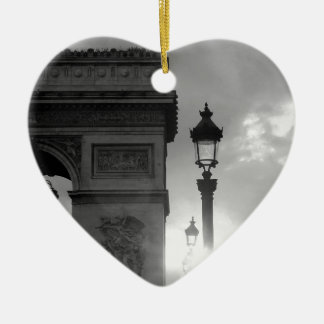B&W Arc De Triomphe Christmas Ornament