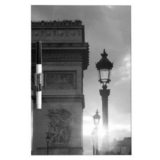 B&W Arc De Triomphe Dry Erase White Board
