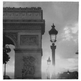 B&W Arc De Triomphe Napkin