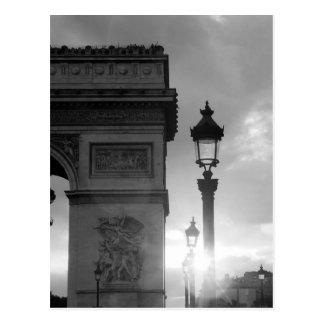 B&W Arc De Triomphe Postcard