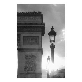 B&W Arc De Triomphe Stationery