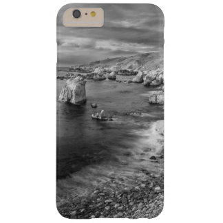 B&W beach coastline, California Barely There iPhone 6 Plus Case