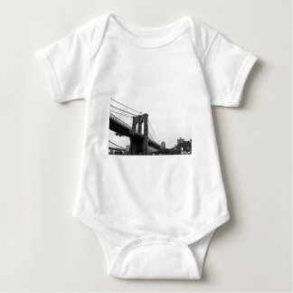 B&W Brooklyn Bridge Baby Bodysuit