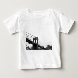 B&W Brooklyn Bridge Baby T-Shirt