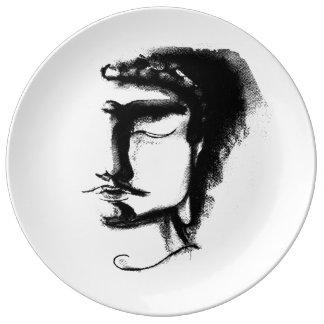 "B&W BUDDHA #1 Decorative Porcelain Plate 10.75"""