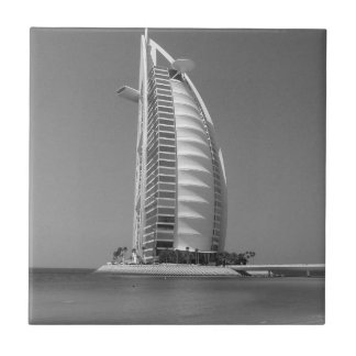 B&W Burj Al Arab Small Square Tile