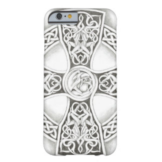 B&W Celtic Cross Barely There iPhone 6 Case