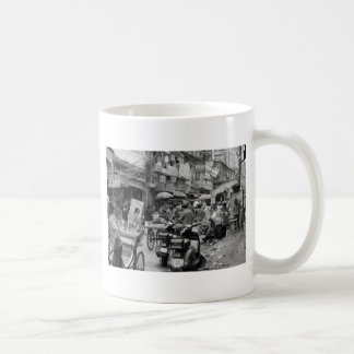 B&W Chaos in Delhi Coffee Mug