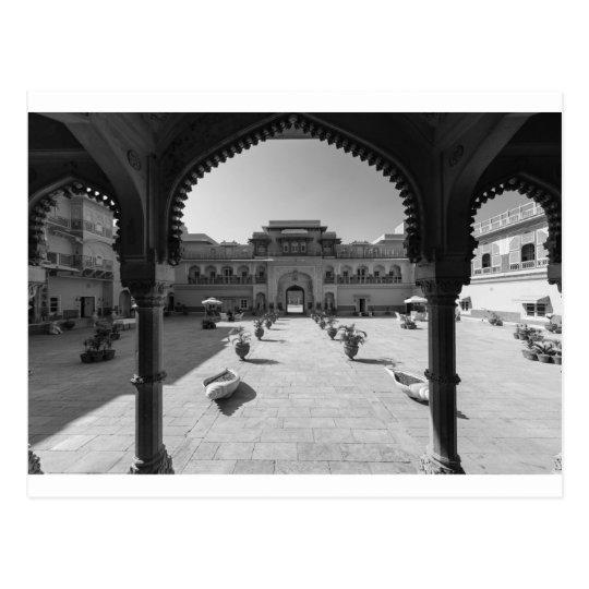 B&W Chomu Palace Postcard