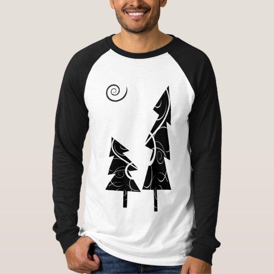 b&w Christmas trees T-Shirt