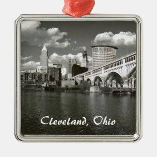 B/W Cleveland Ornament