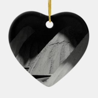 B&W Colors Ceramic Heart Decoration