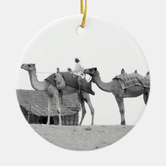 B&W Dubai desert Christmas Ornament